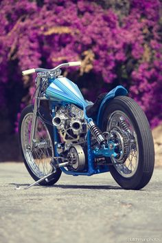 Blue Bobber. life on a motorcycle