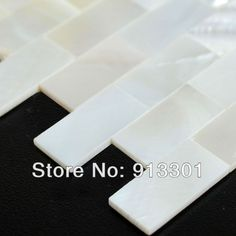 Mother of Pearl Tiles Subway Seashell Kitchen Backsplash Tile the Kitchen backsplash ideas bath wall tiles white subway tiles-in Mosaics fro...
