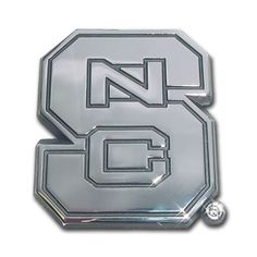 NC State Wolfpack Premier Chrome Metal Auto