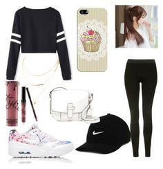 """Casually Amazing"" by littlelanybunny on Polyvore featuring Topshop, NIKE, Pin Show, Casetify, Kylie Cosmetics and MICHAEL Michael Kors"