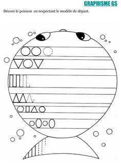 Pandora Strange world: Travail avec des MS sur le thème Poisson d'Avril Math Gs, Grande Section, Things To Do When Bored, Sea Theme, Teaching French, Fine Motor, Alphabet, Preschool, Math Equations