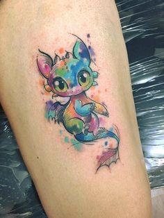Tattoo Ideas For Guys Calf Tatoo Ideas Toothless Tattoo, Cute Toothless, Toothless Drawing, Bild Tattoos, Body Art Tattoos, New Tattoos, Tatoos, Tattoo Art, Tattoo Ideas