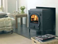 Cleanheat dove - cast iron multifuel stove - Dove Stove10.5 kw - 34.000 BTU clip in boiler for CH