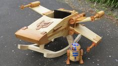 Wooden X-wing Rocker Will Make You Miss Being a Kid. Thanks to Star Wars, kids would rather grow up to be intergalactic fighter pilots now, so an X-wing-themed rocker just makes a lot more sense these days. Star Wars Baby, Star Wars Kindergarten, Star Wars Nursery, Rock A Bye Baby, X Wing Fighter, Fighter Pilot, Baby Rocker, Red Rocker, Wooden Stars