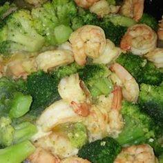 Garlic & lemon pepper shrimp and broccoli