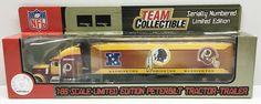 (TAS032986) - NFL 1:80 Scale Peterbilt Tractor-Trailer - Washington Redskins