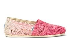 Oh man. I want these. Pink ombre TOMS Crochet Classics