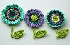 Crochet Flower Motifs Crochet Garden Series by AnnieDesign
