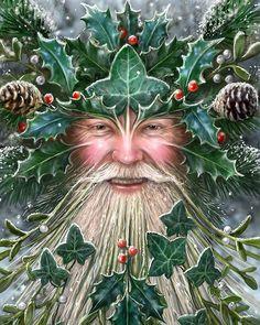 Pagan Christmas, Origin Of Christmas, Father Christmas, Christmas Art, Vintage Christmas, Christmas Decorations, Yule Decorations, Magical Christmas, Beautiful Christmas