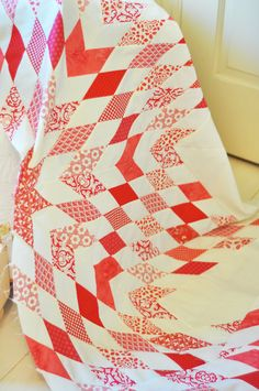 Lone Star red and white quilt