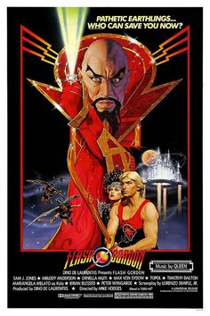 Flash Gordon movie poster. X-Large