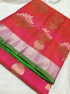 Blue Silk Saree, Peach Saree, South Silk Sarees, Indian Silk Sarees, Pattu Saree Blouse Designs, Silk Saree Blouse Designs, Fancy Blouse Designs, Pattu Sarees Wedding, Wedding Silk Saree