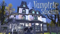 This is a vampire's house perfect for a family of vampires who don't really care about the exterior . Vampire House, Sims Building, Sims 4, Big Ben, Exterior, Travel, Viajes, Destinations, Traveling