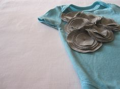 grey flower cluster baby one piece by HudsonAndRuthie on Etsy