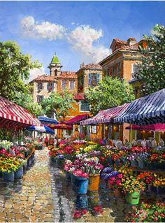 """Sam Park's """"Flower Market Nice"""""""