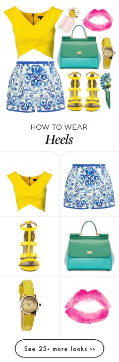 """""""Printed Shorts"""" by aleksandravidic on Polyvore featuring Dolce&Gabbana, River Island, Michael Antonio, Topshop, Marc Jacobs and Nixon"""