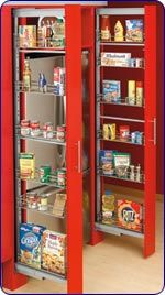 Pantry - Rev-A-Shelf Slim Line Pull Out Pantry Unit with Adjustable Frame and Baskets | KitchenSource.com