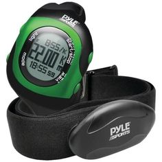 PYLE-SPORTS PSBTHR70GN Bluetooth(R) Fitness Heart Rate Monitoring Watch with Wireless Data Transmission & Sensor (Green)