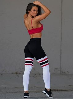 Bombshell Sportswear ~ high quality, super sexy workout wear created and designed in Los Angeles. Designer Leggings, Sock Leggings, Workout Leggings, Tights, Workout Pants, Workout Attire, Workout Wear, Workout Outfits, Sport Fashion