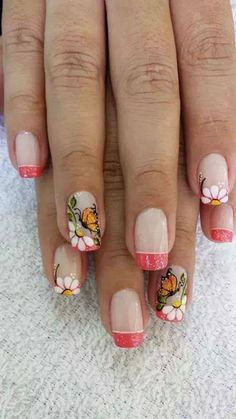 The only nail that I like is thepinky May Nails, Nails Only, Spring Nails, Summer Nails, Trendy Nails, Cute Nails, Acryl Nails, French Tip Nails, Pretty Nail Art