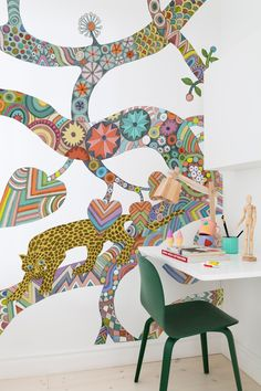 Find the perfect wallpaper for every room   #teenstyle #room #wallart #wallpaper #wallmural #colourful #interior #homdecor #kidsroom