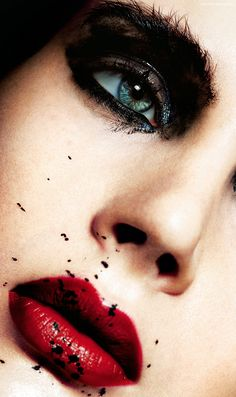Crystal Red, Fabia by Benjamin Becker for Factice Magazine Exclusive - February 2014#http://www.benjaminbecker-photography.com Photographer Benjamin Becker beauty makeup lips nails fashion magazine cover hair