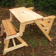 How to build a compact folding picnic table