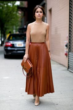 Miroslava Duma New York Fashion Week Spring 2014 Attendees Pictures - StyleBistro