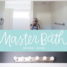 Master Bathroom Before & After #CraftedExperience #CollectiveBias ad