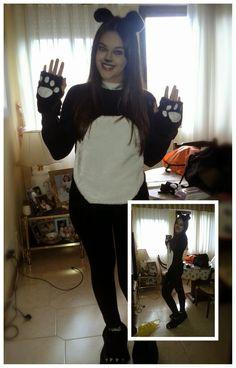 Cómo hacer un disfraz de oso panda / How to make a panda bear costume