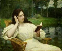 Victor Gilbert - Jeune femme lisant