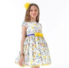 ROCHIE FETE CU FLORI GALBENE Girls Dresses, Summer Dresses, Special Occasion, Fashion, Tulle, Summer Sundresses, Moda, Dresses Of Girls, Sundresses