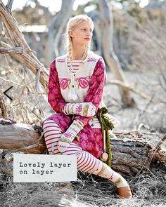 [ॐ] Omwoods: Gudrun Sjöden :: Scandinavian Boho Peasant Fashion Funky Fashion, Colorful Fashion, Gudrun, Catalog Cover, Mori Girl, Beautiful Outfits, Beautiful Clothes, Models, Marimekko