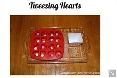 Montessori - February Valentines Tweezing Hearts