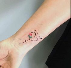 Heart with cross - Tattoos for Women - Heart with cross – Tattoos for Women. Find this many more ideas of Tattoos. Leo Tattoos, Wrist Tattoos, Body Art Tattoos, Tatoos, Cross Tattoos For Women, Tattoos For Women Small, Small Tattoos, Small Cross Tattoos, Family Tattoos