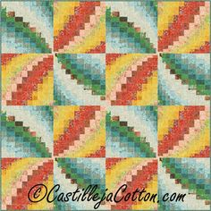 (7) Name: 'Quilting : Bargello Pinwheels Quilt Pattern 4867-1