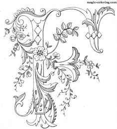 MAGIC-COLORING | Flowered Monograms (3)