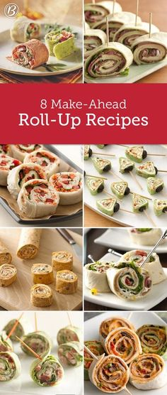 Boat food: These make-ahead wonders never fail to impress. From classic BLT roll-ups to creative portable pinwheels, here are eight of our favorites! Finger Food Appetizers, Appetizers For Party, Appetizer Recipes, Appetizer Ideas, Healthy Appetizers, Easy Fingerfood Recipes, Easy Finger Food, Picnic Finger Foods, Birthday Appetizers