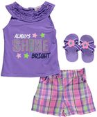"Real Love Baby Girls'  ""Shine Bright"" 3-Piece Set $6.99 visit  http://www.littleoneslocker.com/infant-girls-clothing-sets.html"