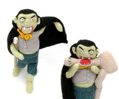 Free knitting pattern. Knit a vampire! How cool is this! From Mollie Makes.