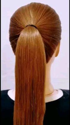 Hairdo For Long Hair, Easy Hairstyles For Long Hair, Cute Hairstyles, Braided Hairstyles, Wedding Hairstyles, Pelo Color Caramelo, Hair Up Styles, Hair Videos, Hair Looks