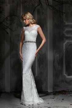 Convertible lace wedding dress.
