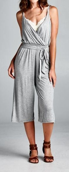 Jumpsuit in Heather Gray ==