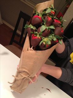 Valentine's Day strawberry bouquet!