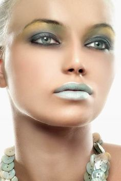 Light Blue Powder Lips