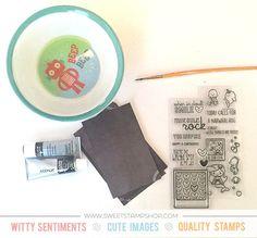 Scratch off cards by designer Samantha Mann using the Sweet Stamp Shop Smile More and Mermaid Shelfie stamp set