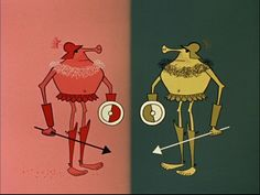 Production art and some stills from the 1957 Disney production, Mars and Beyond, which explored the possibility of life on other planets.  It was directed by Ward Kimball and narrated by Paul Frees. It's a colorful, creative piece of work, look it up on YouTube if you have the time.