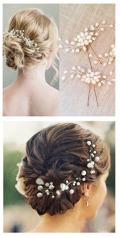 Truly gentle pearl hair stick can be perfectly use for your wedding hairstyle. What kind of hair style did you have/ planning to have for your special day? Click on the picture to see more