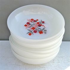 Fire King Primrose bowls -- My favorite collection since I was about 22... right Christine?