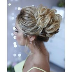 36 Messy wedding hair updos for a gorgeous rustic country wedding to... ❤ liked on Polyvore featuring accessories and hair accessories